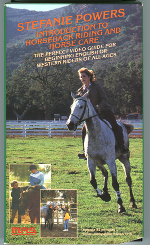 Stefanie Powers Introduction to H orsebackriding and Horse Care VHS